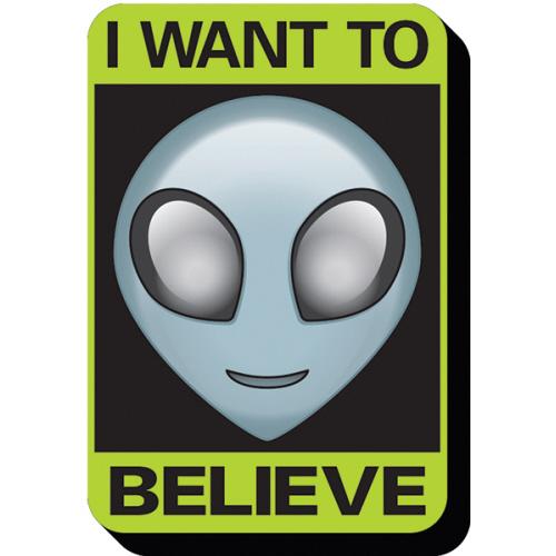 Alien Believe Sign Funky Chunky Magnet.