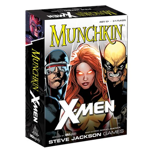 Munchkin X-Men Edition Card Game. Players take on the role of young mutants attending The School of Gifted Youngsters. Students start at Level 1 and work their way up to Level 10 to graduate at the head of their class.