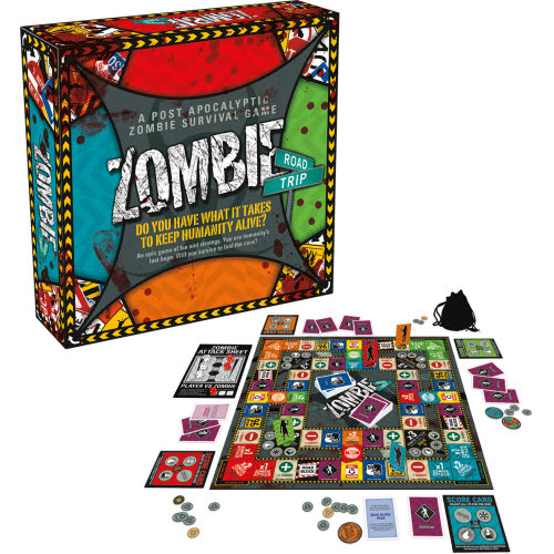 Zombie Road Trip Board Game.